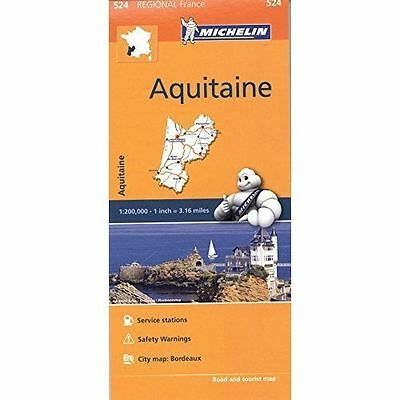 Aquitaine  Map - New Michelin 524 - France Regional Map - Current Edition