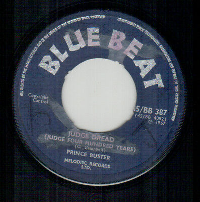 Prince Buster - Judge Dread - Blue Beat UK Rocksteady Single