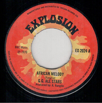 GG All Stars - African Melody - Explosion UK Reggae Single