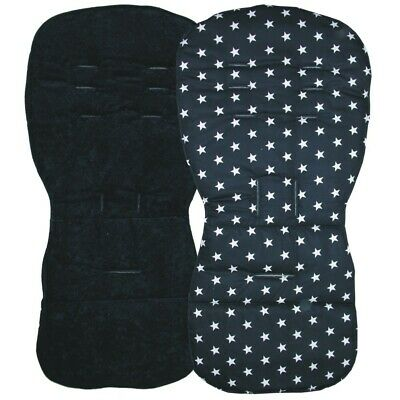 Reversible Seat Liners to fit Silver Cross Pursuit pushchairs - Black Designs
