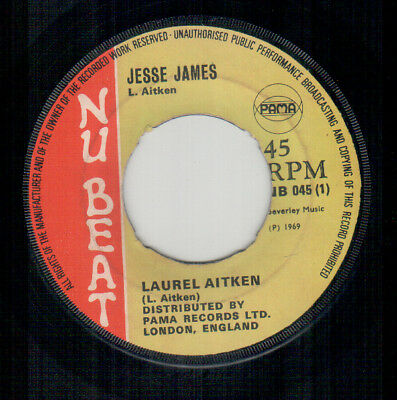 Laurel Aitken - Jesse James - Nu Beat UK Reggae Single