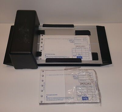 Manual Portable Credit Card Imprinter + Sales Slips