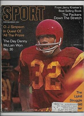 December 1968 issue of SPORT Magazine-O.J. Simpson cover!
