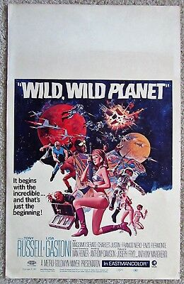 Wild Wild Planet Orig 1967 Re-Release Wc Movie Poster Rolled Nm