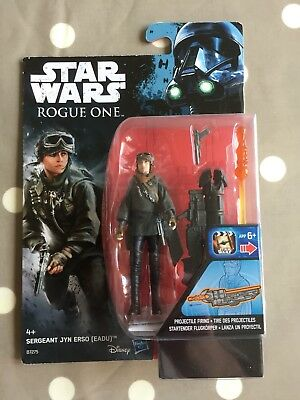 "Star Wars Rogue One Sergeant Jyn Erso (Eadu)  Figure 3.75"" New"