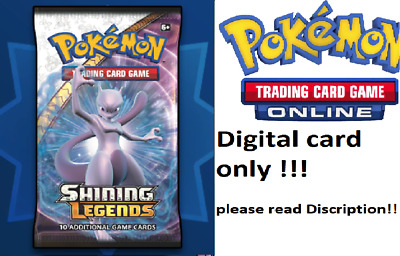50x Shining Legends / Schimmernde Legenden Booster Pokemon-TCG-Online / no Code