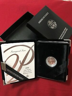 1997 - American Platinum Eagle Proof - 1/10 oz. - $10 - with U.S. Mint Packaging