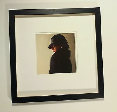 Jack Vettriano professionally mounted and framed art card Portrait in black and