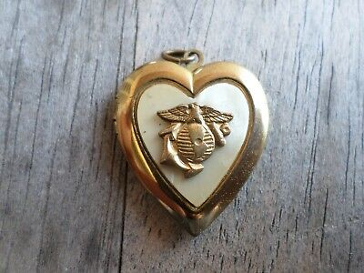 wwii usmc marine corps locket ega sweetheart son in service ww2