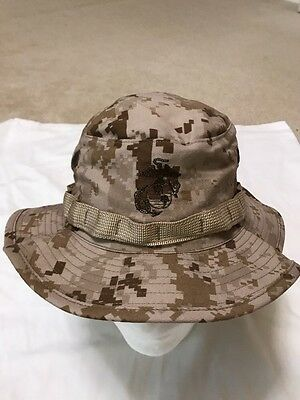 Genuine USMC Desert digital marpat Boonie hat made by Sekri IndustriesNew Medium