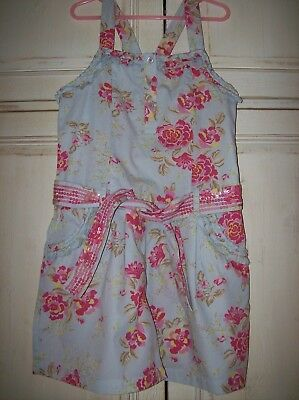 Girls M&s Floral Short Playsuit Age 8 Yrs - Excellent Condition