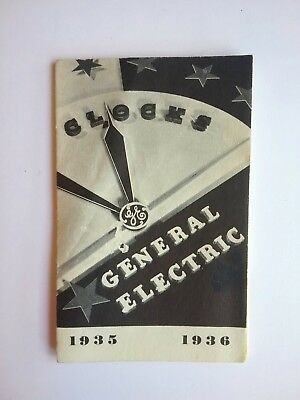 1935 1936 General Electric Clocks Brochure