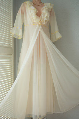 VINTAGE Gossard ARTEMIS Dreamy CHIFFON Nightgown and NEGLIGEE Gorgeous Elegance