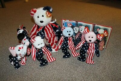 TY Beanie Baby US Star Spangled Banner collection