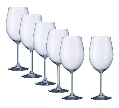 Set 6 Crystal Bohemia 580ml elegant gastro large red wine glasses