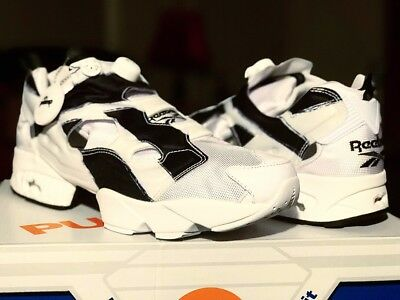 a534c4f500e4b REEBOK Instapump Fury OB Overbranded Men s Shoes White Black SZ US11