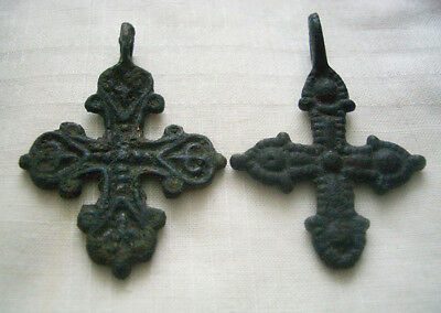 2 Byzantine crosses pendant 11th-13th centuries