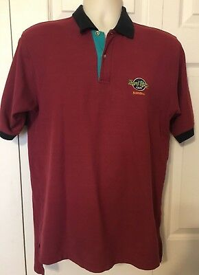 Hard Rock Cafe Shanghai Mens Graphic Short Sleeve Cotton T-Shirt Size Large Red