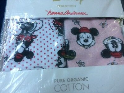Hanna Andersson Disney Minni Mouse Organic Unders Girls Hipsters XL 160  Sz16-18