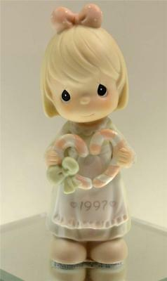 Precious Moments DATED 1997 XMAS Cane You Join Us For a Merry Xmas 272671 NIB