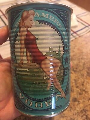 Deep Eddy Blue Pin Up Girl Tin Can