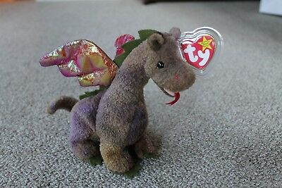 TY beanie baby Scorch the dragon - RETIRED - MWMT