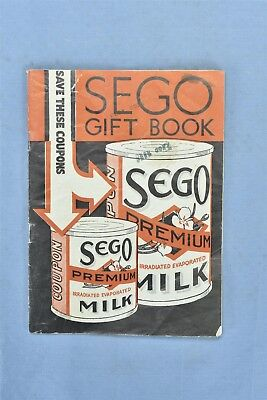 Vintage 1934 SEGO EVAPORATED MILK GIFT BOOK SAVE COUPONS 31 PAGES OLD #05461