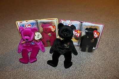 TY Beanie Babies Millennium and The End - RETIRED - MINT condition -