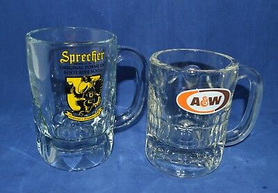 Sprecher and A&W Root Beer Mugs