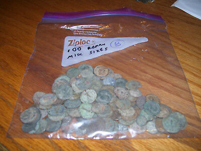 Lot Of 100 Ancient Roman Bronze Coins High Grade Top Quality Misc Sizes 7.0 Oz