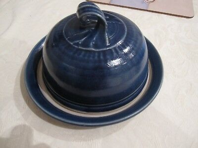 """Blue cheese plate with """"cloche"""" cover"""