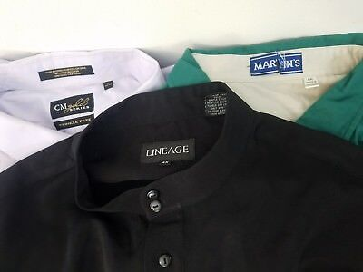 LOT OF 3  (2) MEN'S 4XL BUTTON DOWN SHIRTS & 22  (1) long sleeve priest/oxford