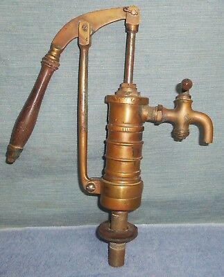 Antique Brass Hand Water Pump Faucet Tap Sink L.f.& G New Britain Ct. Sands?