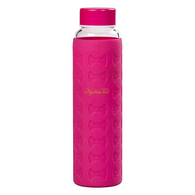NEW Hot Pink Glass Water Bottle with Silicon Sleeve Ted Baker Water Bottles