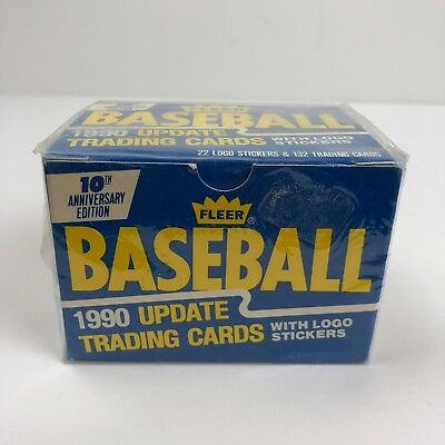 Fleer 1990 Update Trading Cards 10th Anniversary Edition - Baseball Cards - NEW