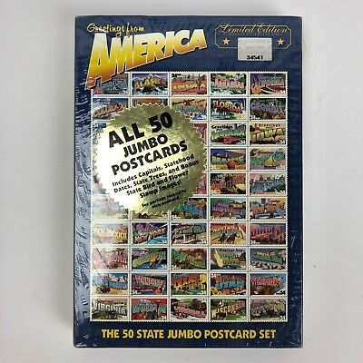 2002 Greetings From America Limited Edition Greetings Cards 50 Jumbo Postcards