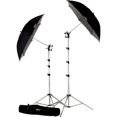 Smith-Victor UK2 Umbrella Kit with RS8 Stands, 45BW Umbrellas & Cold Shoe Mount