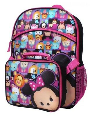 Disney's Tsum Tsum Backpack & Lunch Tote Set NWT