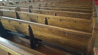church pew antique 20 ft & 10 ft long