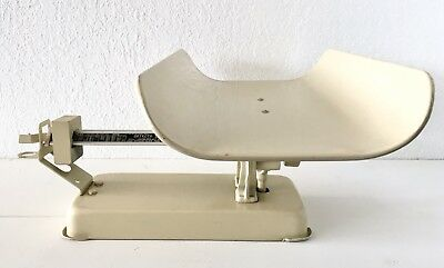 Baby Beam Scale 30 Lbs Cast Iron Metal Detecto Doctor Hospital Beige White MCM