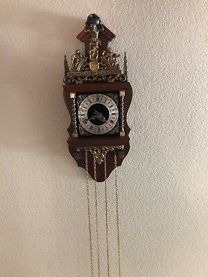 Vintage Zaanse Franz Hermle Nuelck Syn Sin Wall Clock Made In Germany
