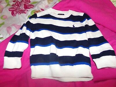 Polo Ralph Lauren Toddlers Sweater   Striped   L/s   Size: 3/3T  Used