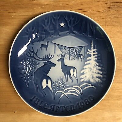 1980 Bing & Grondahl Christmas Plate Christmas In The Woods Denmark b&g collect