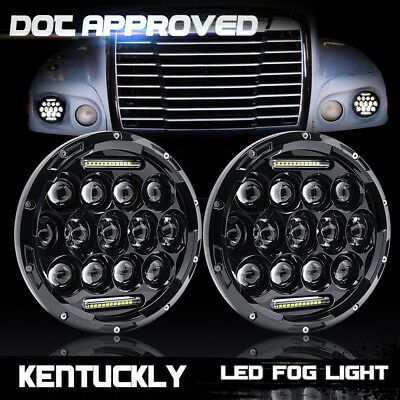 DRL Freightliner Century Lights 7inch LED Projector Headlight For Pre 2005 Model