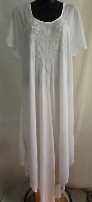 Ladies Size XL 1X 2X  Cover-up DRESS Maxi  EMBROIDERY Top Cruise BOHO Beach NWT