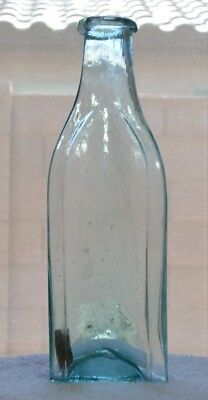 "Vintage Crude Hand Blown ""Spice-Style"" Condiment Bottle from 1870's"
