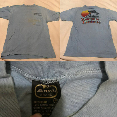 Vintage Yosemite Institute Double Sided Pocket Shirt Mens size Medium *Stained
