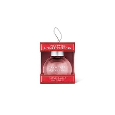 Rosewater & Pink Peppercorn Shower Bauble 100ml Crabtree & Evelyn