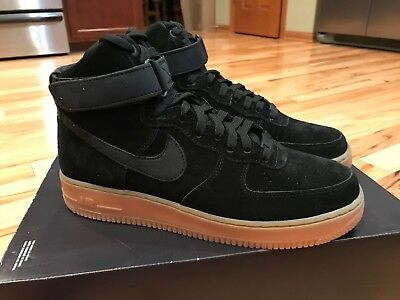 NIKE AIR FORCE 1 High 07 Lv8 Suede Black Gum Bottom Aa1118 ...