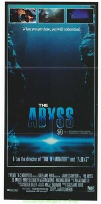 THE ABYSS MOVIE POSTER JAMES CAMERON 1989 Australian 12.75 x 26.5 Daybill Size